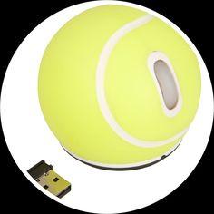 La souris ordinateur sous forme de balle de tennis est une souris optique sans fil