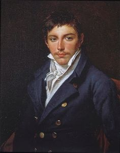 Jacques-Louis David, Portrait of François-Antoine Rasse de Gavre, 1816. The sitter's father may have commissioned this portrait from David out of sympathy for the exiled painter. The boy was sixteen years old when the portrait was painted, and although his clothes are elegant and stylish, his untidy hair and his wispy moustache hint at his youth. Oil on canvas.