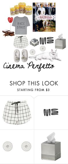 """""""CINEMA PERFETTO"""" by michelle858 ❤ liked on Polyvore featuring Topshop, Oysho, Gucci and Villari"""