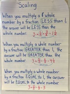 Scaling fractions can be a complicated concept for students to understand. This anchor chart helped my students tremendously! Common Core Standard: 5.NF.B.5