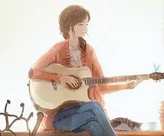 New Illustration Art Drawing Girl Beautiful Ideas Art Anime Fille, Anime Art Girl, Anime Girls, Girl Cartoon, Cartoon Art, Art Mignon, Illustration Art Drawing, Drawing Art, Wow Art