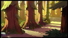 Gravity Falls Intro Trees