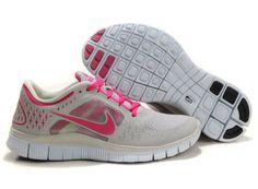huge discount e705e 04838 De bijzondere Vrouwen Nike Free Run 3 Schoenen Grijs Rood een inspanning  leveren om de 100