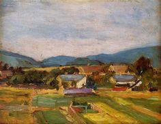 Egon Schiele Landscape in Lower Austria 1907