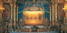 View of the stage of Margravial Opera House in Germany