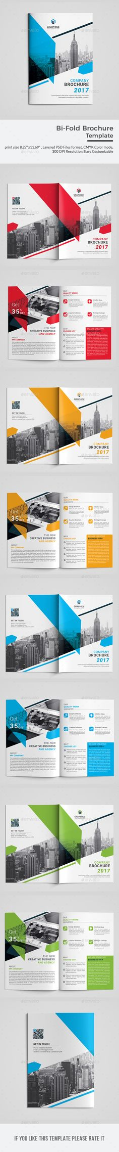 Bi-fold Brochure Template Print size & Bleed Setting inch), Layered PSD Files format, CMYK Color D Travel Brochure Template, Bi Fold Brochure, Corporate Brochure, Business Brochure, Brochure Design, Flyer Design, Layout Design, Cs6 Photoshop, Business Cards Layout