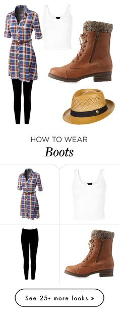 """""""chunky boots"""" by ellen-xxii on Polyvore featuring Warehouse, LE3NO, Charlotte Russe and Goorin"""