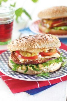 Helpot hampurilaiset  http://www.pirkka.fi/ruoka/reseptit/78747-helpot-hampurilaiset
