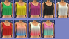 I've been looking for a summery crop top mesh for a long time, and found an awesome one today which is a part of eltaninz's CiJ gift to nyren over at GOS. • 9 tops - 6 solid colours, 3 pastel...