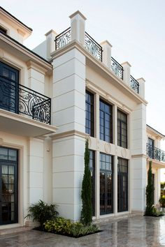 French homes luxury homes decoration facade maison, maison m Architecture Classique, Architecture Design, Neoclassical Architecture, Classic Architecture, Landscape Architecture, Landscape Design, Villa Design, House Design, Design Homes