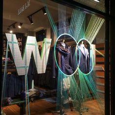 """M.J.BALE, Sydney, New South Wales, Australia, """"Woo Hoo for Wool!"""", for Wool Week, creative by Sam Gazal Installations, pinned by Ton van der Veer"""