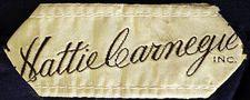 1940s Hattie Carnegie Label Metropolitan Museum of Art*