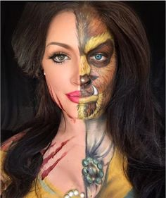 18 Totally Spooky Disney Makeup Masterpieces Just in Time for Halloween – Page 4 – Chip Chick Halloween Inspo, Halloween Makeup Looks, Halloween 2018, Disney Halloween Makeup, Halloween Costumes, Halloween Stuff, Belle Disney, Belle Makeup, Disney Makeup