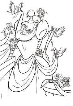 Pin By Carmen Rodriguez On Coloring Pages And Fun Images To images ideas from NEO Coloring Pages Cinderella Coloring Pages, Barbie Coloring Pages, Disney Princess Coloring Pages, Disney Princess Colors, Disney Colors, Coloring Pages For Girls, Cool Coloring Pages, Cartoon Coloring Pages, Coloring For Kids