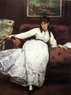 Edouard Manet. Repose (Berthe Morisot). 1869-1870.  Providence, Rhode Island School of Design, Museum of Art