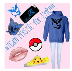 """#PKMON-TEAM MYSTIC"" by zoebop on Polyvore featuring Glamorous, Valor, Lime Crime, Casetify and Kanto"