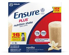 Ensure Plus Nutrition Shake, Vanilla, 8-Ounce, 16 Count