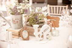 Upcycle an old watering can and fill with lovely country blooms.B B xx