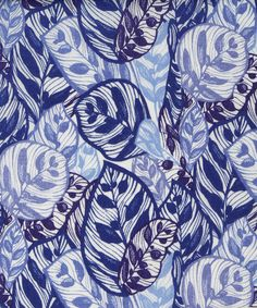 Jungle B Tana Lawn Cotton | Liberty Art Fabrics | Drawn in pen and ink at Kew Gardens, taking inspiration from the Nymphoides Aquatic ( Banana Plant), this all-over tonal Liberty print was influenced by Greek architecture, a subject matter often explored by Fornasetti