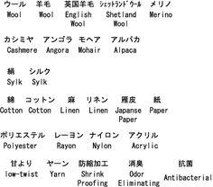 Crochet & knitting: Japanese Types of yarn