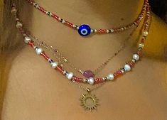 Funky Jewelry, Hippie Jewelry, Trendy Jewelry, Cute Jewelry, Diy Jewelry, Jewelry Rings, Beaded Jewelry, Jewelry Accessories, Beaded Necklace