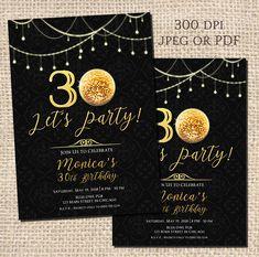 30th Birthday Invitations 40th 50th 60th Digital Printable