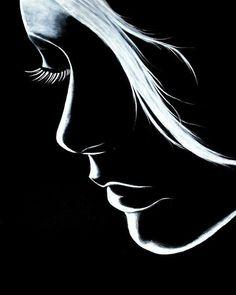 "Image 𝔇 "" Dark Art Drawings, Pencil Art Drawings, Art Drawings Sketches, Black Canvas Paintings, Black Canvas Art, Kreative Portraits, Black Paper Drawing, Black Aesthetic Wallpaper, Arte Obscura"