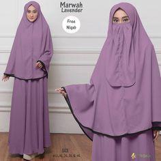 Marwah Syari by Friska Niqab, Lavender, Dresses, Fashion, Vestidos, Moda, Fashion Styles, Dress, Fashion Illustrations