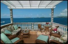 One of the most impressive short term rentals on St. John! ''Rhapsody'' is truly a very special Caribbean estate on a 1/2 acre waterfront lot with a 16' x 32' spectacular infinity pool & immense pool deck at great room level.
