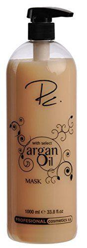 Profesional Cosmetics Argan Oil Hair Mask oz Bottle With Pump *** Details can be found by clicking on the image. Argan Oil Hair Mask, Homemade Hair Treatments, Hair Masks, Hair Health, Damaged Hair, Beauty Care, Pump, Cosmetics, Club