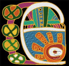 Mayan Design 5 http://cindysembroiderydesigns.com/Cultural-Art-Collection-5.html