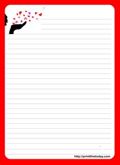 love letter stationery template - Google Search | Projects to Try ...