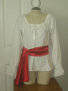 Lovely Renaissance Women's Chemise Costume Pirate Shirt; could make yellow & use my own white poofy shirt!