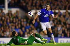 16 April 2014 Kevin Mirallas pulls back a goal for the Blues against Palace five minutes from time but it is not enough and Everton lose 2-3