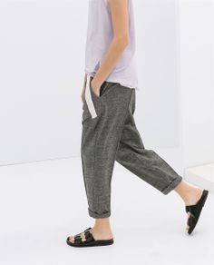 Image 3 of VELOUR TROUSERS WITH DARTS from Zara