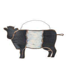 Look what I found on #zulily! Cow Wall Art #zulilyfinds