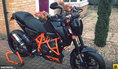 Russ's Black and Orange KTM 690 Duke | DERESTRICTED