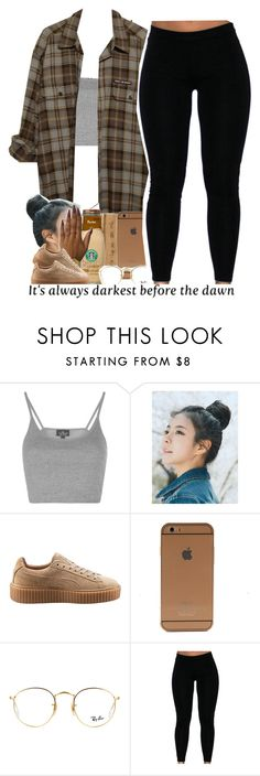 """- "" by beautiful-sinnerr ❤ liked on Polyvore featuring Topshop, pinkage, Puma and Ray-Ban"