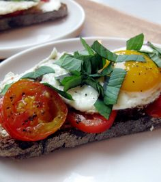 Egg, Tomato & Goat Cheese Breakfast Tartine