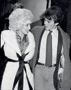 Dolly Parton and her brother David Parton at the Lyceum Theater in Edinburgh, photographed by Ron Galella, 1980