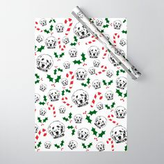 """Now you will finally understand why your grandmother wanted to save the wrapping paper. The oversized, premium-weight sheets will please even the most discerning wrappers. Look, people love getting gifts (that's a gimme) but what people love even more is a gift wrapped with a thoughtful and eye-catching style. So give the people what they love.   - Sold in a set of five sheets - Each sheet measures 20"""" x 29"""" - 100lb smooth matte paper  **PRO TIP*... Dog Christmas Gifts, Christmas Gift Wrapping, Double Stick Tape, Goldendoodle, Dog Gifts, Dog Owners, Organic Cotton, Wraps, Smooth"""