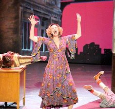 "Jane Lynch belts out ""Little Girls"" with the cast of ANNIE at the Tony Awards."