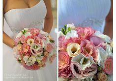 Baiciurina Olga's Design Room: Tender ivoy&pink wedding bouquet-Нежный, бело-розовый букет невесты