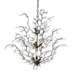 Canopy Designs Audrey--Branches with clear glass accents form this delicate chandelier. Also popular as a single tier for smaller spaces.