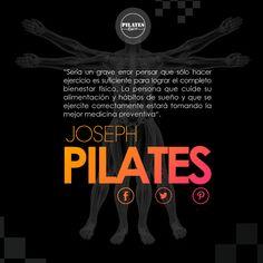 """""""Sería un grave error pensar que sólo hacer ejercicio es suficiente para lograr el completo bienestar físico. La persona que cuide su alimentación y hábitos de sueño y que se ejercite correctamente estará tomando la mejor medicina preventiva"""".  Joseph Pilates  #PilatesRiazor #Pilates #Frase #JosephPilates #Bienestar  #Cuidarse #Alimentación #Descansar #LaMejorMedicina #Coruña #Galicia #Verano"""