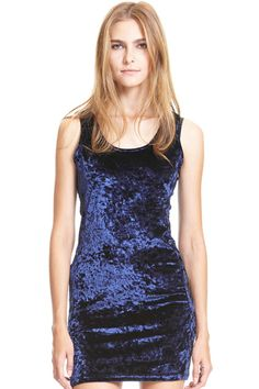 ROMWE | Five-pointed Star Shaped Cutout Blue Velvet Dress, The Latest Street Fashion