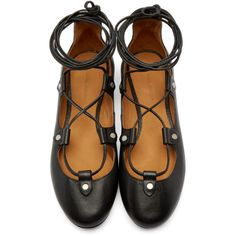 bb2015aa082f Isabel Marant - Black Lace-Up Lali Ballerina Flats Shoe Story, Ballerina  Flats,