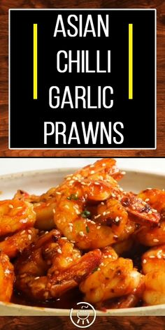A meaty low carb Asian Chilli Garlic Prawns recipe that makes a tasty keto friendly meal. It can even be made ahead and frozen for an easy meal any time. Easy Prawn Recipes, Easy Chicken Dinner Recipes, Low Carb Chicken Recipes, Pork Recipes, Fish Recipes, Seafood Recipes, Asian Recipes, Cooking Recipes, Keto Recipes
