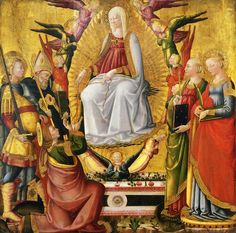 Saint Thomas Receiving The Virgins Girdle Painting by Neri di Bicci