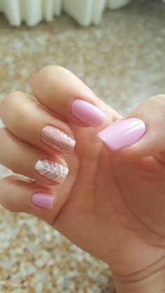 adorable short nail design ideas for summer to try nails art 13 Nail Manicure, Diy Nails, Pink Nail Colors, Gel Nagel Design, Floral Nail Art, Sparkle Nails, Short Nail Designs, Cute Acrylic Nails, Nagel Gel